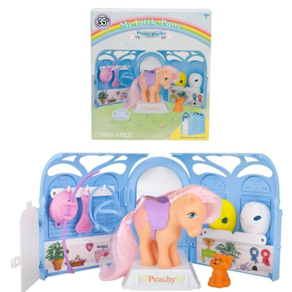 My Little Pony MLP My Retro Pretty Parlor Playset Includes Exclusive Peachy Pony